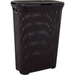 Kôš Curver® STYLE 40L, hnedý, 61x26x44 cm, na bielizeň, prádlo