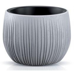 Kvetinac BETON Bowl, 18/13x14 cm, sivý