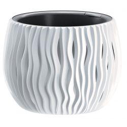 Kvetinac SANDY Bowl 240, 238x161 mm, biela, vložka