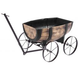 Kvetinac GDA Woodeff 817, whiskey barel wagon, 41,5x29x19cm