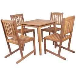 Set LEQ SKOVBY, terasový, drevený, 1+4