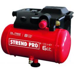 Kompresor Strend Pro BOF1506, bezolejový, 1,1 kW, 6 lit.