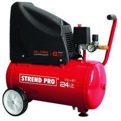 Kompresor Strend Pro OF1524, bezolejový, 1,1 kW, 24 lit.