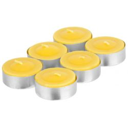 Sviečka Citronella C-151, čajovka, žltá, bal. 6 ks