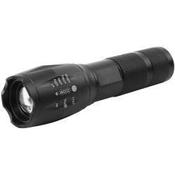 Svietidlo Strend Pro Flashlight FL001, T6 150 lm, Alu, 2200mAh, power bank, Zoom, USB nabíjanie