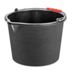Vedro ReCycled® 12 lit, stavebné, plast, s výlevkou, plastový úchyt, čierne