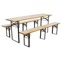 Set pivný DORTMUND Medium3, stôl 200x50x77 cm, 2x lavica 200x25x47 cm, drevo 27 mm