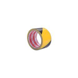 Páska lepící výstražná 44 mm / 25 m, žlutočerná