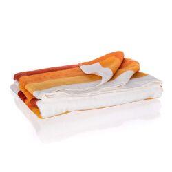 BANQUET Osuška bavlněná velurová BEACH 80 x 160 cm, oranžové pruhy