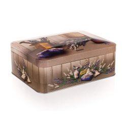 BANQUET Plechovka LAVENDER 20 x 15,5 x 8 cm, box na čaj