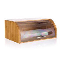 BANQUET Chlebník bambusový BRILLANTE 40,5 x 27 x 17 cm, s plastovým víkem