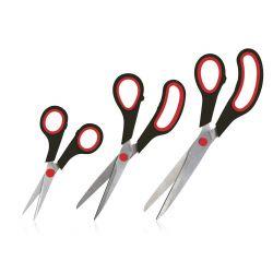 Sada nůžek pro domácnost CULINARIA, 3 ks, černá/červená