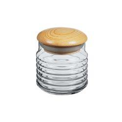 PASABAHCE Dóza skleněná s dřevěným víkem BABYLON 0,6 l