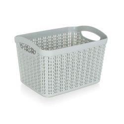 Košík ratanový 21 x 16 x 13,8 cm, 3,3 l, šedý