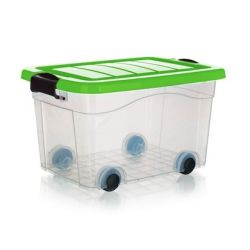 Box úložný na kolečkách PYRAMIDA 20 l, zelený