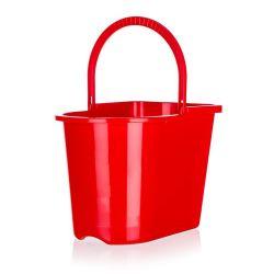 BRILANZ Kbelík obdélníkový 15 l, mix barev červená a modrá