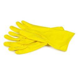 BRILANZ Rukavice úklidové latexové, velikost M, žluté