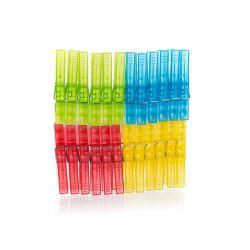 BRILANZ Sada plastových kolíčků na prádlo ECONOMY, 24 ks