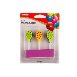 BANQUET Svíčky narozeninové MY PARTY Ballons, 6 ks
