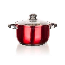 BANQUET Hrnec nerezový MAESTRO Red 20 cm, 3,2 l, s poklicí