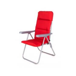 HAPPY GREEN Židle zahradní skládací LOARA 68x58x107cm,červená