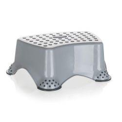 Stolička - schůdek 40 x 28 x 14 cm, šedá