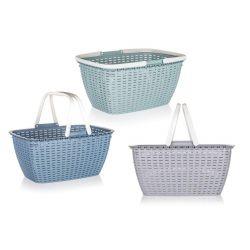 BANQUET Košík nákupní  plastový ACASSA 17l, mix barev