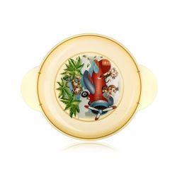 BANQUET Talíř dětský plastový mělký MONKEY 23,4 x 18,3 x 2,4 cm