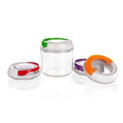 BANQUET Dóza plastová hermetická KLIKON 0,4 l, mix barev