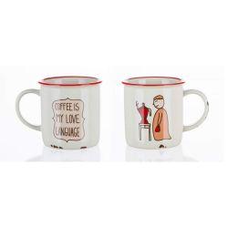BANQUET Hrnek keramický COFFEE STORY 310 ml, Love