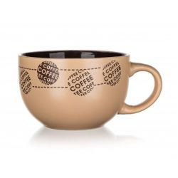 BANQUET Hrnek keramický jumbo COFFE 660 ml, krémový
