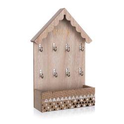HOME DECOR Věšák na klíče HOUSE 30 x 18 x 6,5 cm