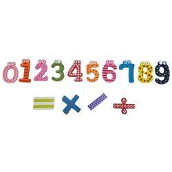 Magnetky drevené číslice 14ks