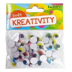 Kreativity Pohyblivé oči farebné 12mm/50ks