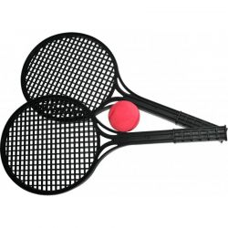 Soft tenis čierny 1 loptička