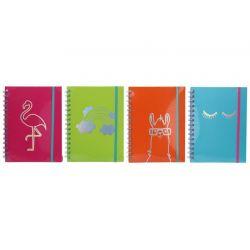 Notes s linajkami 15x20cm 80 listov - zelená