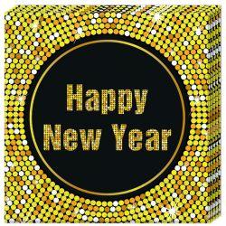 Servítky Šťastný nový rok 33x33cm 20ks