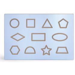 Viga drevená tabuľa s tvarmi 60x40cm