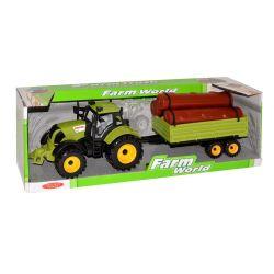 Traktor s vlečkou 45cm - červená