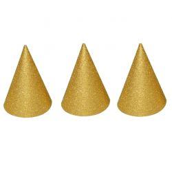 Klobúčiky Párty zlaté 6ks